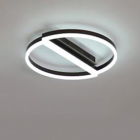 cheap Dimmable Ceiling Lights-52 cm LED® 2-Light Circular Novelty Flush Mount Lights Downlight Brushed Aluminum Creative 110-120V 220-240V Warm White White