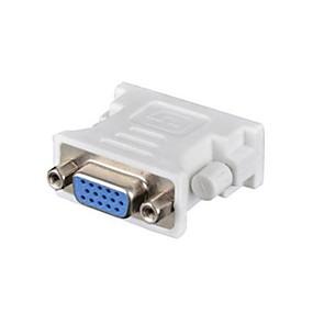 preiswerte Computer & Büro-DVI 24 + 1 Adapterkabel, DVI 24 + 1 nach VGA Adapterkabel Weiblich männlich 1080P Kurz (unter 20 cm)
