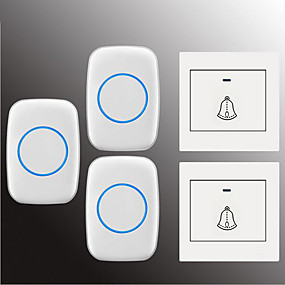 cheap Doorbell Systems-Factory OEM Wireless Two to Three Doorbell Music / Ding dong Non-visual doorbell