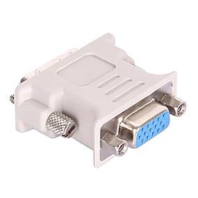 preiswerte Computer & Büro-DVI 24 + 5 Adapterkabel, DVI 24 + 5 nach VGA Adapterkabel Male - Female Kurz (unter 20 cm)