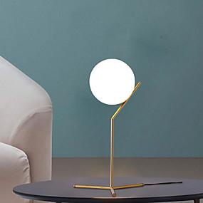 povoljno Stil rasvjete-nordijska moderna minimalistička stolna svjetiljka od bijelog stakla zlatna noćne svjetiljke led svjetlo za stol u dnevnoj sobi spavaće sobe