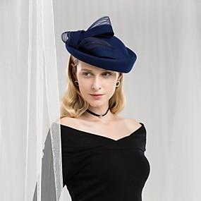 povoljno Melbourne Cup Carnival Hats-100% vuna Kentucky Derby Hat / Šeširi s Mašnica 1pc Kauzalni / Dnevni Nosite Glava