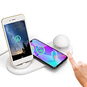 preiswerte Home & Garden-brelong iphone drahtloser aufladenpilz mit drei usb schnelles aufladen usb-angetriebenes Nachtlicht 1pc