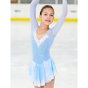 preiswerte Sport & Outdoor-Eiskunstlaufkleid Damen Mädchen Eislaufen Kleider Schwarz Rosa Rouge Purpur Elasthan Hochelastisch Wettbewerb Eiskunstlaufkleidung Handgemacht Klassisch Modisch Eislaufen Eiskundstlauf