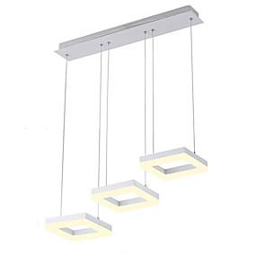 povoljno Lámpatestek-3-svjetlosni snop geometrijskih privjesaka ambijentalnog osvjetljenja završava metalnim akrilnim mini stilom, vodio 110-120v / 220-240v toplo bijelo / bijelo