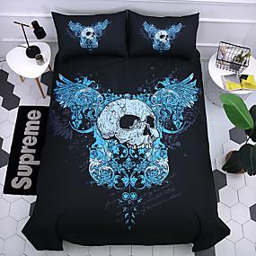 cheap Bedding Sets-Duvet Cover Sets 3D Poly / Cotton / 100% Cotton Reactive Print 3 PieceBedding Sets