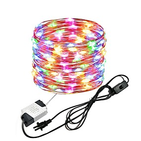 cheap Plug in Electric-10M 33Ft 100leds Waterproof Copper Wire lights Fairy String EU US Plug with Switch Direct use AC85-265V
