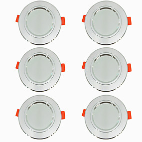 cheap LED Recessed Lights-6pcs 5 W 360 lm 10 LED Beads Easy Install Recessed LED Downlights Warm White Cold White 220-240 V Ceiling Home / Office Living Room / Dining Room / CE Certified