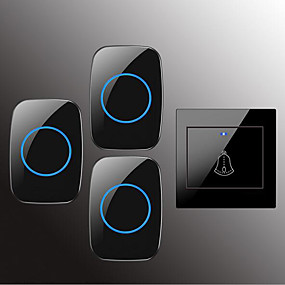 cheap Doorbell Systems-Factory OEM Wireless One to Three Doorbell Music / Ding dong Non-visual doorbell Surface Mounted