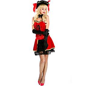 preiswerte Cosplay Costumes-Spanische Dame Kostüm Erwachsene Damen Flamenco Halloween Karneval Valentinstag Fest / Feiertage Spitze Plüsch Rote Damen Karneval Kostüme Spitze / Top / Handschuhe / Hut / Neckwear