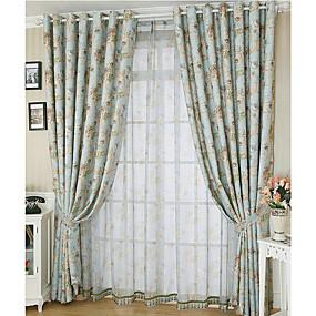 preiswerte Fensterdekoration-Landhaus Stil Privatsphäre zwei Panele Vorhang Schlafzimmer   Curtains
