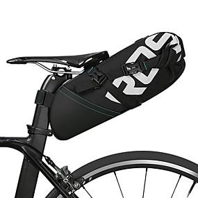 preiswerte Fahrradsatteltaschen-ROSWHEEL 10 L Fahrrad-Sattel-Beutel Reflektierend Einstellbar Hohe Kapazität Fahrradtasche Leder Polyester Tasche für das Rad Fahrradtasche Radsport Fahhrad