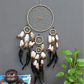 cheap Dreamcatcher-Dreamcatcher - Feather / Fur European 1 pcs Wall Decorations