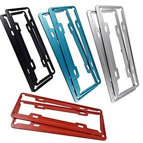 billige Dekorasjon til frontgrill-bil rustfritt stål kjennetegn ramme fly aluminium kildeskilt ramme kjøretøy administrasjon