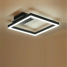 cheap Dimmable Ceiling Lights-1-Light 40 cm Multi-shade / Dimmable Flush Mount Lights Aluminum Acrylic Geometrical Brushed Contemporary / LED 220-240V