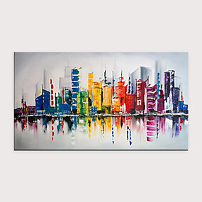cheap Most Popular-Oil Painting Hand Painted - Abstract Modern Rolled Canvas