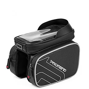 preiswerte Fahrradrahmentaschen-PROMEND Handy-Tasche Fahrradrahmentasche 6.2 Zoll Touchscreen Radsport für Radsport iPhone X iPhone XR Schwarz Outdoor Übungen Radsport / Fahhrad Fahhrad / iPhone XS / iPhone XS Max
