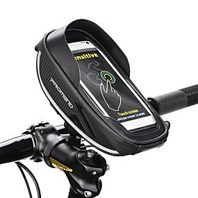 preiswerte Fahrradsatteltaschen-1 L Handy-Tasche Fahrradrahmentasche Fahrrad-Sattel-Beutel Wasserdichter Reißverschluß Outdoor Telefon / Iphone Fahrradtasche PU-Leder Tasche für das Rad Fahrradtasche iPhone XR / iPhone XS / iPhone