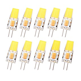 preiswerte Lampen-SENCART 10 Stück 3 W LED Doppel-Pin Leuchten 450 lm G4 T 1 LED-Perlen COB Wasserfest Abblendbar Warmes Weiß Kühles Weiß 12-24 V