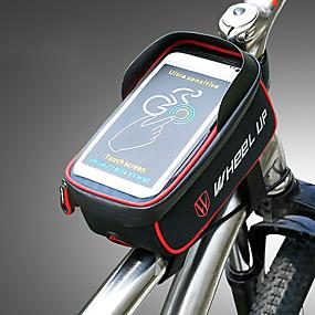preiswerte Fahrradrahmentaschen-Wheel up 1.275 L Handy-Tasche Fahrradrahmentasche Tragbar tragbar Einfach zu installieren Fahrradtasche Nylon Tasche für das Rad Fahrradtasche Radsport / iPhone X / iPhone XR Outdoor Übungen Wandern
