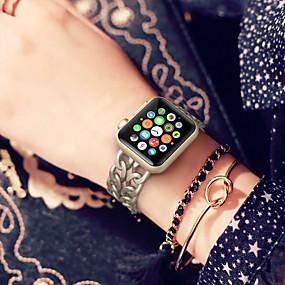 preiswerte Smart Watch Band-Aleación Uhrenarmband Gurt für Apple Watch Series 4/3/2/1 Schwarz / Silber / Gold 18cm / 7 Inch 2.2cm / 0.9 Inch