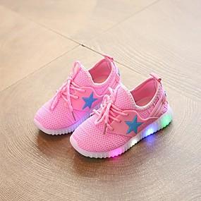 preiswerte LED Schuhe-Mädchen Komfort Elastisches Gewebe Sportschuhe Kleinkind (9m-4ys) / Kleine Kinder (4-7 Jahre) Walking Schwarz / Blau / Rosa Frühling Sommer
