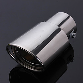 Universal 256A Car Exhaust Tip Trim End Pipe Tail Sport Muffler Stainless Steel Chrome