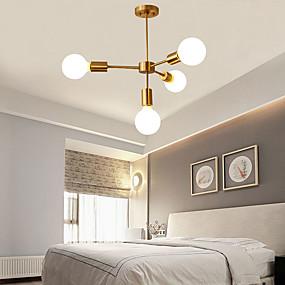 billige Kjøkkenbelysning-4-Light 68 cm Lysekroner Metall Sputnik Moderne / Kunstnerisk 110-120V / 220-240V