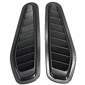 billige Automotive Kroppsdekorasjon og beskyttelse-2 stk bil dekorative luftstrøm inntak scoop turbo bonnet ventilasjon deksel fender