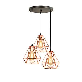 povoljno Viseća rasvjeta-3-Light Fenjer Privjesak Svjetla Ambient Light Electroplated Metal New Design 110-120V / 220-240V