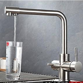 preiswerte Veredelte Küchenarmaturen-Armatur für die Küche - Zwei Griffe Ein Loch Standard Spout Moderne Kitchen Taps