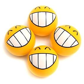 billige Dekorasjon til bilhjul-4 stk smil ansiktsuttrykk bil dekk dekk støv stengel luftventil caps