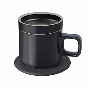 preiswerte Electronics-vh x mgeek qi kabellose wärmende Tasse und Ladegerät für Telefon, 10w schnelles, drahtloses Ladegerät und 24w kabellose wärmende Tasse, Getränkewärmer für Kaffee, Milch, Tee, warmhalten um 131 ℉ / 55
