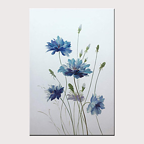 povoljno Slike za cvjetnim/biljnim motivima-Hang oslikana uljanim bojama Ručno oslikana - Sažetak Cvjetni / Botanički Moderna Bez unutrašnje Frame