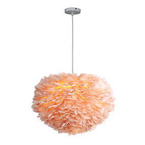 povoljno Lámpatestek-3-Light Fenjer Privjesak Svjetla Ambient Light Metal Fabric New Design 110-120V / 220-240V