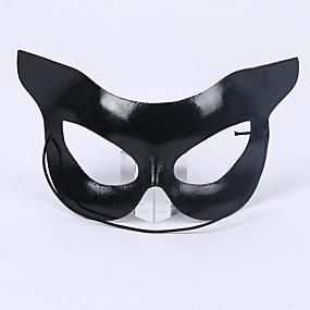 preiswerte Leisure-Maske Venezianische Maske Maskenmaske Inspiriert von Cosplay Schwarz Halloween Halloween Karneval Maskerade Erwachsene Damen Weiblich / Halbe Maske