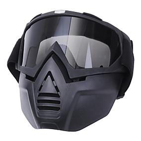 billige Ansiktsmasker til motorsykkel-anti tåkebriller motorsykkel sykkel full ansiktsmaske briller len nese hjelm skjold