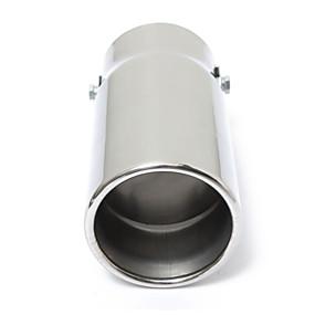 preiswerte Innenraum Autozubehör-runde universal passend für auto auspuffendrohr auspuffendämpfer chrom aus chrom