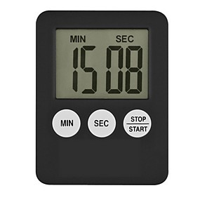 preiswerte Dekorationen-super dünner lcd-digitaler Bildschirmküchen-Timerquadrat, der Countdown-Weckermagneten-Uhr temporizador kocht