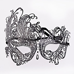 preiswerte Festival & Carnival Costumes-Venezianische Maske Maskenmaske Halbe Maske Inspiriert von Cosplay Schwarz Halloween Halloween Karneval Maskerade Erwachsene Damen Weiblich