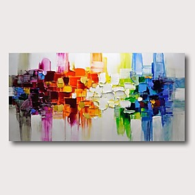 cheap Most Popular-Oil Painting Hand Painted - Abstract Comtemporary Modern Stretched Canvas