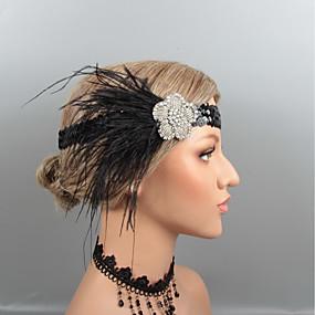 preiswerte Essential Accessories-Feder Stirnbänder / Kopfbedeckung mit Strass / Kristall / Feder 1 Stück Hochzeit / Party / Abend Kopfschmuck