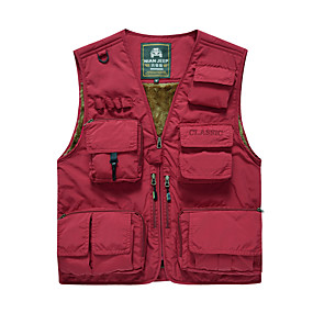 cheap Camping, Hiking & Backpacking-Men's Hiking Fleece Jacket Fishing Vest Work Vest Outdoor Casual Lightweight with Multi Pockets Spring Fall Winter Summer Travel Cargo Safari Photo Wear Resistance Breathable Waistcoat Jacket Coat Top