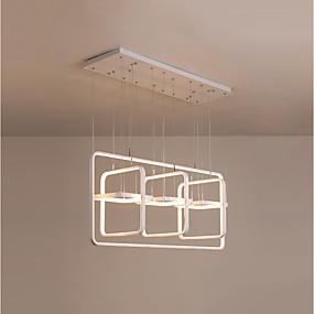 povoljno Lámpatestek-CONTRACTED LED® 3-Light Geometrijski / Noviteti Lusteri Ambient Light Slikano završi Aluminij Kreativan, Produžen, New Design 110-120V / 220-240V Meleg fehér / Hladno bijela