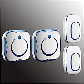 cheap Doorbell Systems-Wireless Two to One Doorbell Music / Ding dong Non-visual doorbell Surface Mounted