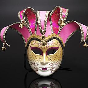 preiswerte Festival & Carnival Costumes-Venezianische Maske Halbe Maske Halloween-Maske Inspiriert von Cosplay Venezianisch Schwarz Braun Halloween Halloween Karneval Maskerade Erwachsene Damen Weiblich