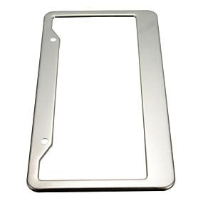 billige Dekorasjon til frontgrill-2pcs 211 # rustfritt stål Driver License Plates Til Universell Alle Modeller Alle år