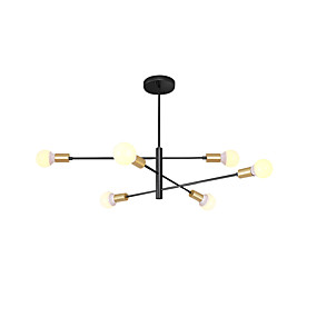 cheap Happy New Year!-6-Light Sputnik Chandelier Ambient Light Painted Finishes Metal New Design 110-120V / 220-240V