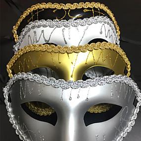 preiswerte Festival & Carnival Costumes-Venezianische Maske Maskenmaske Halbe Maske Inspiriert von Cosplay Schwarz Golden Halloween Halloween Karneval Maskerade Erwachsene Damen Weiblich