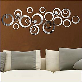 preiswerte Haus Dekor-Dekorative Wand Sticker - 3D Wand Sticker / Spiegel Wandsticker Formen Wohnzimmer / Schlafzimmer / Küche